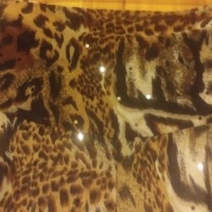 Touch Express Swim - *Touch Express Animal Print Sequin Pants